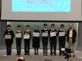 Student representatives getting Third Class Honour Awards (second and third on the right